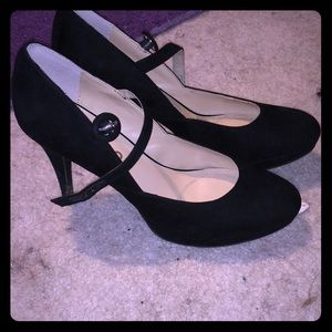 Black Mary Jane style heels by unisa
